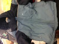 Nike Winter Coat Quilted 40/42at £3o Navy Skydetach Hood Bnwl£