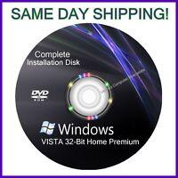 Windows Vista 32 Bit Home Premium Install Reinstall Recovery Dvd Disc Support