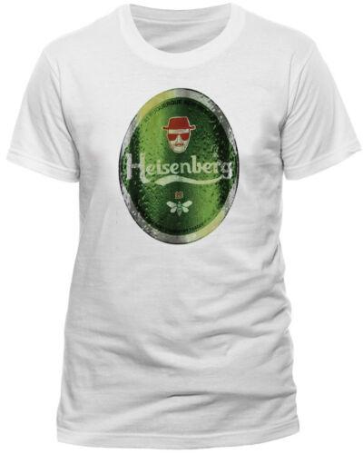 Official Breaking Bad Heisenberg Heineken t-shirt Walter White Unisex Medium XL