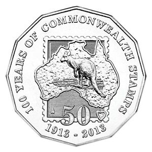 2013-50c-100-Years-of-Commonwealth-Stamps-Uncirculated-Australian-Decimal-Coin