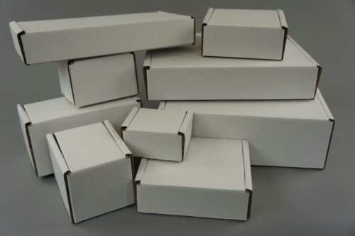Cardboardboxes Postal Blanco-Royal Mail Small Parcel 50-1000 cantidad