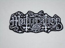 MUTIILATION BLACK METAL IRON ON EMBROIDERED PATCH