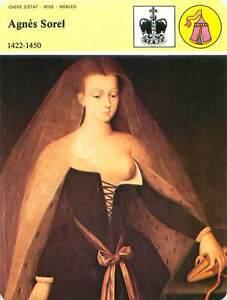 FICHE-CARD-Agnes-Sorel-epouse-duc-Rene-d-039-Anjou-favorite-Charles-VII-France-90s