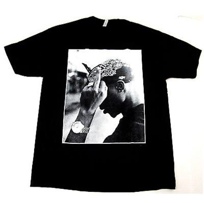 Tupac T shirt; 2pac Tupac Middle Finger Tee shirt