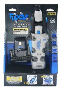 SpeedHex-FlipOut-2-Rechargeable-Power-Driver-with-Removable-Battery-and-Bits-New
