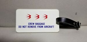 VERY RARE OZARK AIRLINES CREW BAGGAGE TAG