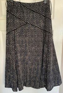Pet-Una-Size-14-M-amp-S-Velour-Blue-Grey-Maxi-Long-Flared-lined-Skirt-Length-35ins
