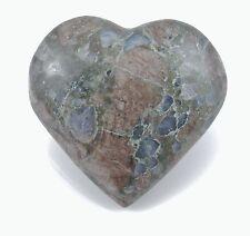 "QUE SERA STONE Polished Puffy Heart 94.8 grams 2.21"" w/ Healing Property Card"
