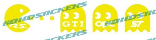 Vinilo de corte pegatina COMECOCOS RS EAT GTI ST OPC RACING STICKER DECAL