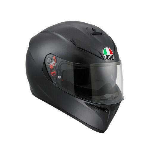 Helm AGV K3 SV Solid schwarz matt Gr XL Motorradhelm mit Sonnenblende