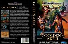 Golden Axe 2 II Sega Mega Drive PAL Replacement Box Art Case Insert Cover Repro