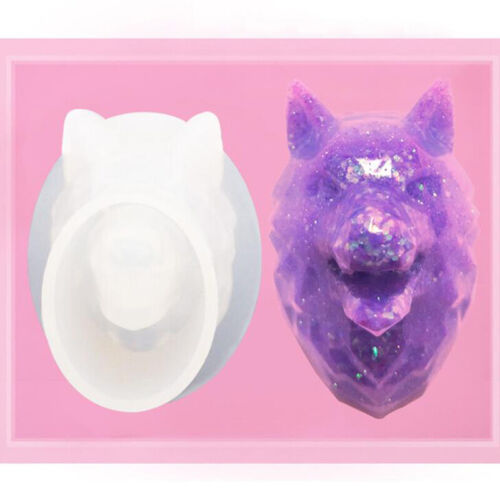 Silicone Wolf Head Mold Clay Resin Casting DIY Pendant Jewelry Making Mould C