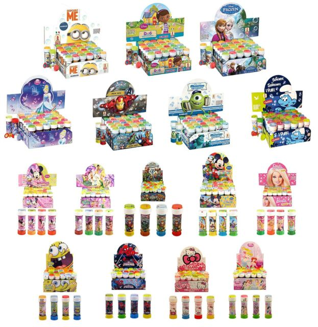 CHARACTER BUBBLES - Boys/Girls Party Bag Fillers (Choose Amount)(Loot Toys/Kids)