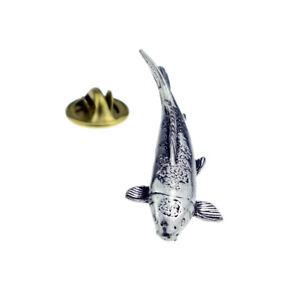 lapel pin badge XTSPBF20 Pewter BASS Fish