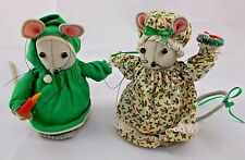 "Mary Maid Mice Mouse Plush Set 6"" Tall"
