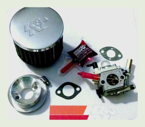 Cobra gas scooter carburetor Walbro 700 HIGH PERFORMANCE carb K/&N air filter