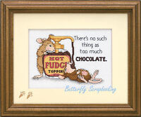 House Mouse Hot Fudge Counted Cross Stitch Dimensions Cross Stitch Kit