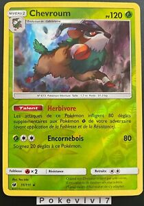 Carte-Pokemon-CHEVROUM-11-111-Holo-REVERSE-Soleil-et-Lune-4-SL4-FR-NEUF
