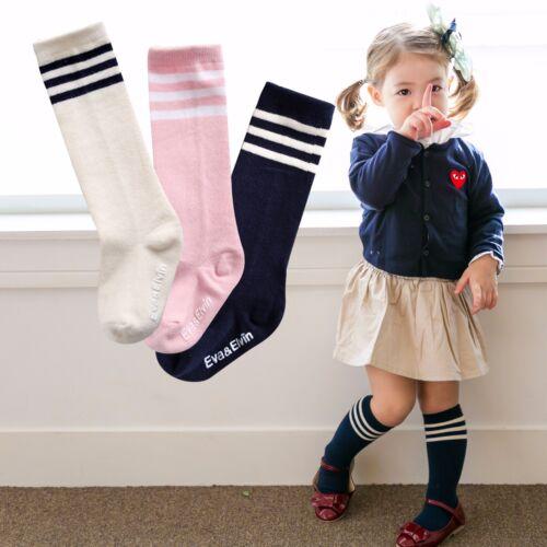 "Vaenait Baby 3 Pairs Kids Girls Anti-Skid Knee High Kneesocks /""Peppy 3set/"" 0-8T"