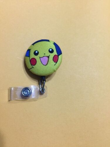 Pokémon Fabric Retractable ID Name Badge Holder Reel clip on