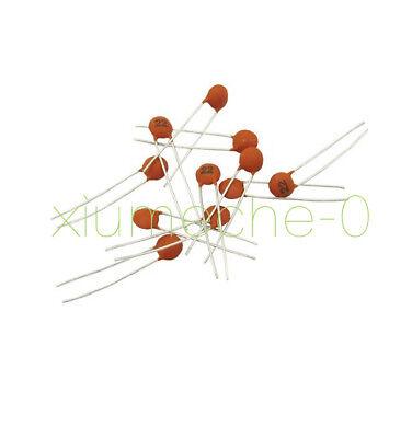 100PCS 50V Ceramic Capacitor DIP 22pF 85℃ ±20/% 2.5x Rated Voltage CA 10℃ to