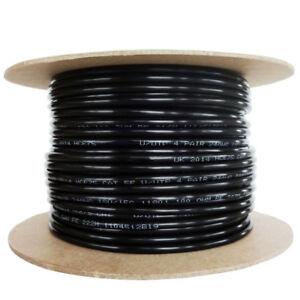 Cat5e-Solid-PE-External-Cable-Black-Reel-100-Copper-Networking-Ethernet-lot