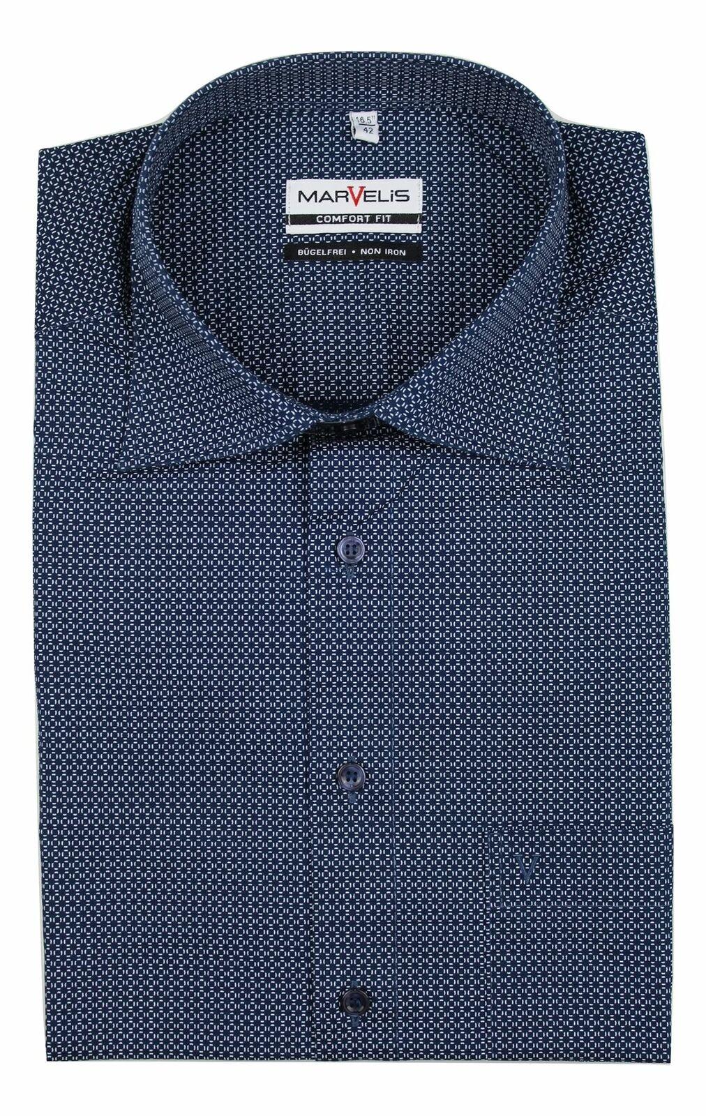 Navy Geometric Spread Collar