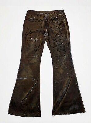 2019 Ultimo Disegno Help Art Jeans Donna Usato Bootcut Zampa Flared W32 Tg 46 Vintage Custom T5486 Prezzo Ragionevole