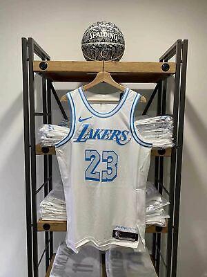 NWT Lebron James Lakers Nike Authentic City White Jersey size 44 new vaporknit   eBay