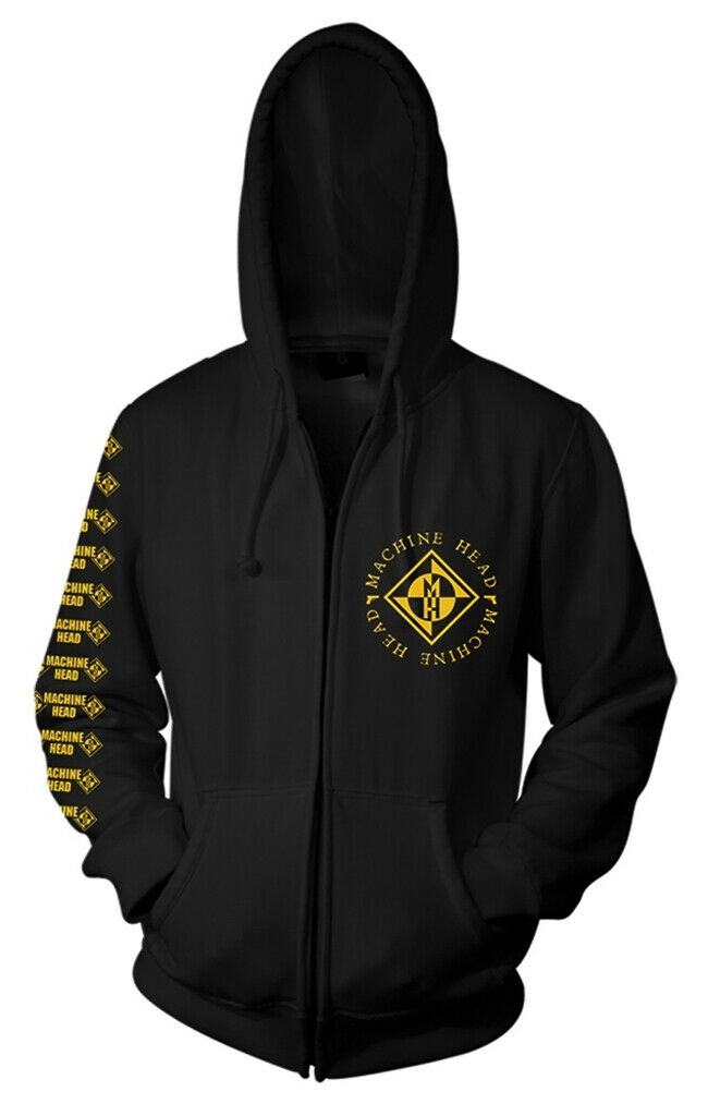Machine Head 'Diamond' (Black) Zip Up Hoodie - NEW & OFFICIAL!