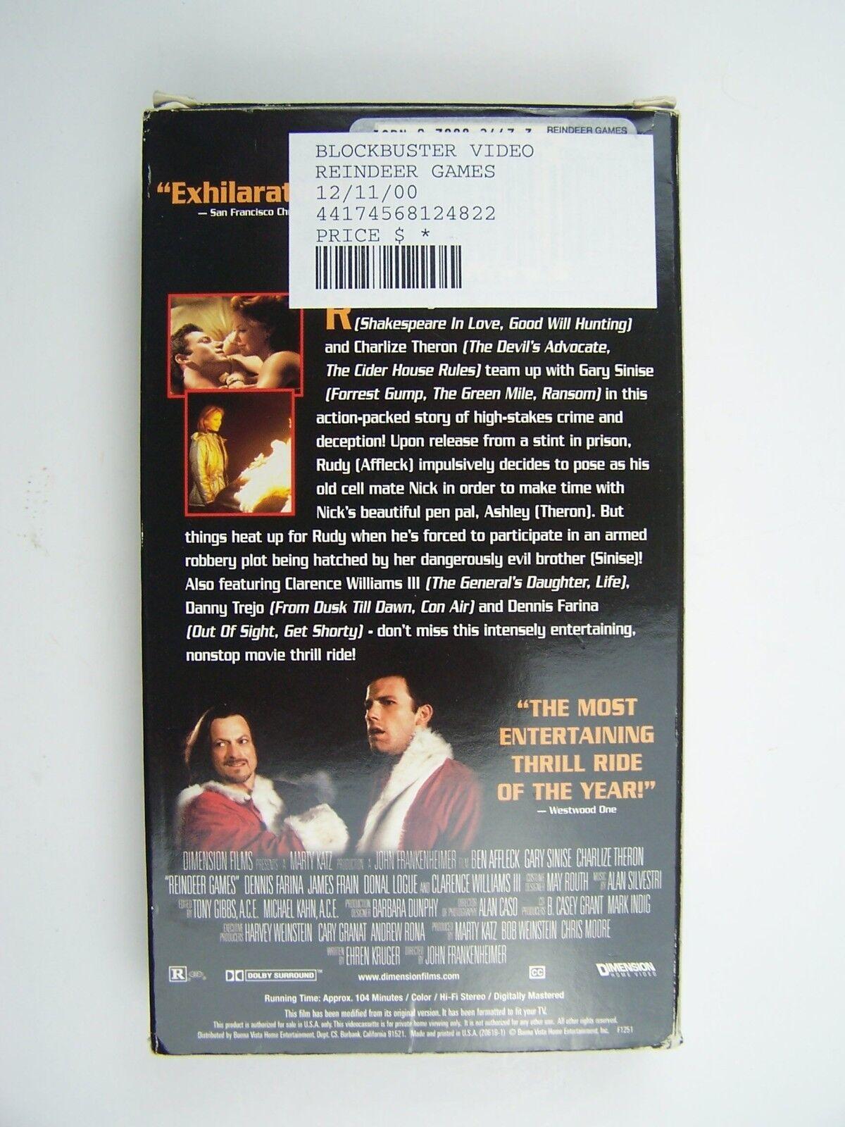 Reindeer Games VHS Video Tape Ben Affleck Gary Sinise C