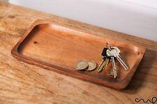Handmade Wooden Coin Key Pen Jewellery Tray Trinket Bathroom Decoration Men Gift