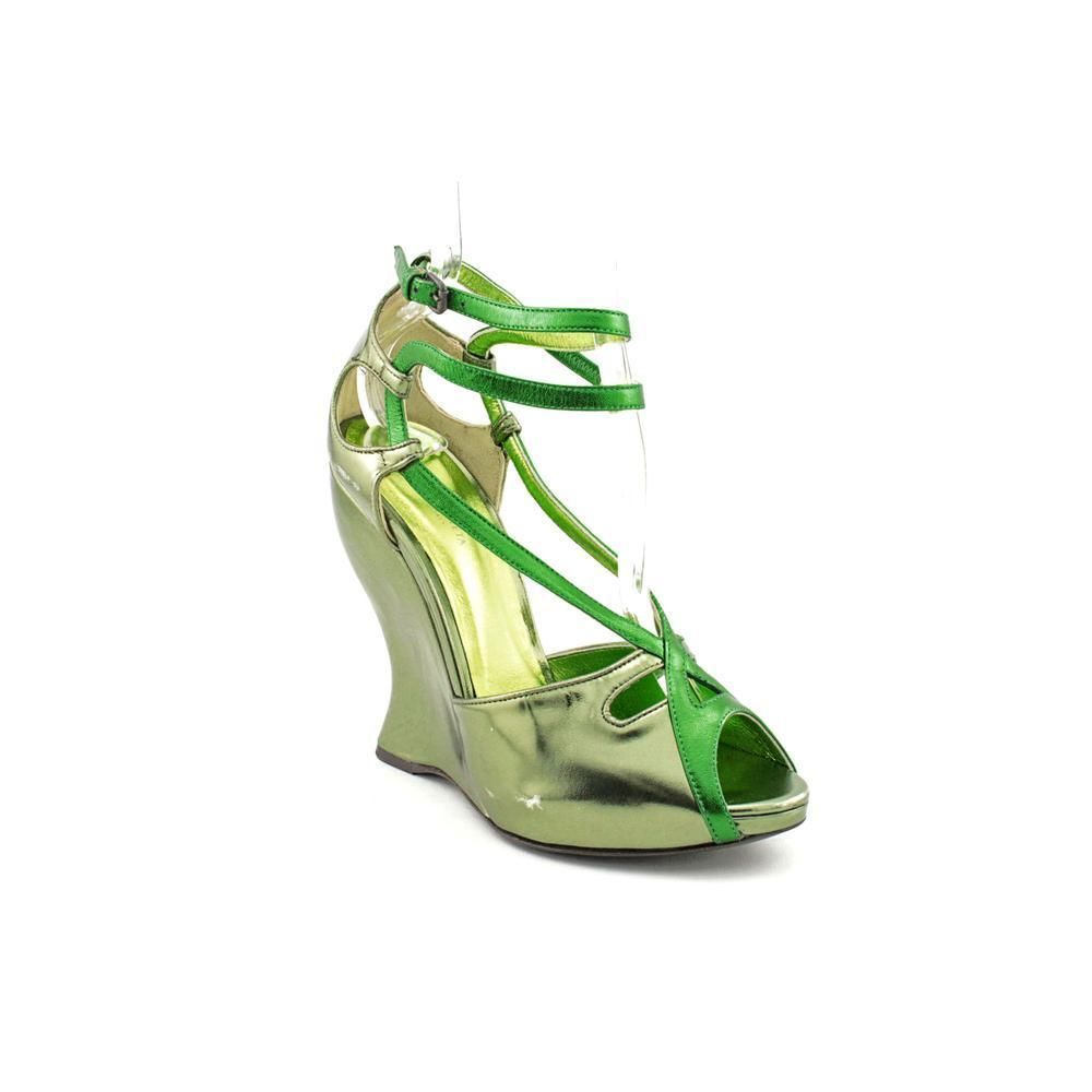 BOTTEGA VENETA Metallic Leather Wedge Sandal, Dimensione 7, EU 37 37 37  a8580d