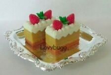 Tray of 4 Strawberry Shortcakes for American Girl Doll Food Accessory /& Wellie