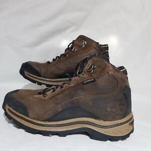 a63e0e0534e Details about TIMBERLAND Boys Walking Boots UK 3.5 EU 36 Brown boys Hiking  Leather