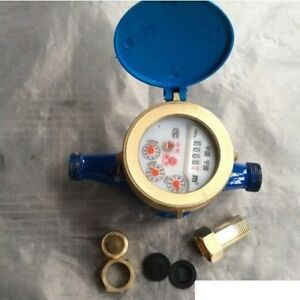 """Home&Garden 1/2""""15mm Flow Measure Tape Water Meter Copper Cold Dry Counter"""