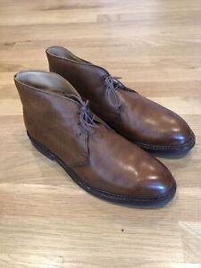 Crockett-amp-Jones-Chepstow-Chukka-Boot-9E-UK-Tan-NICE