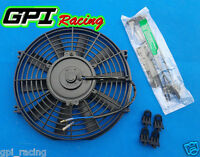 Universal 9 Inch Universal Electric Radiator Fan W/ Mounting Kit Black