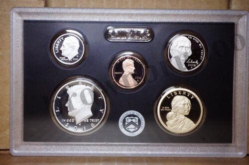 2016 S Partial Proof Set SILVER Kennedy Dime Native $1 5¢ 1¢ 5 Coins NO BOX COA