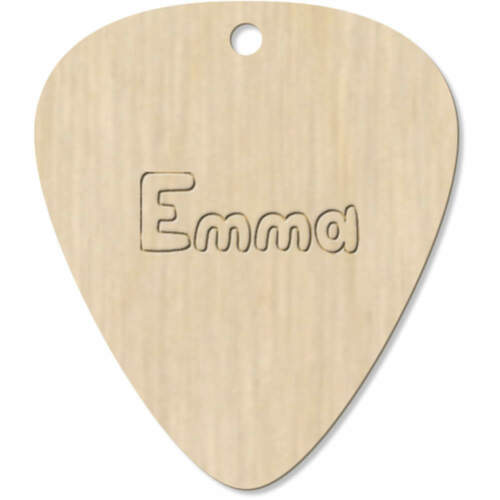 7 x /'Emma Name/' Guitar Picks GP00011654 Pendants