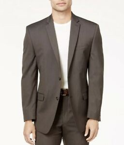best website for discount quality products $375 MARC NEW YORK Men Classic Fit BROWN PINSTRIPE SUIT JACKET ...