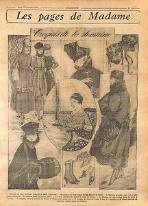 Tailleur-de-Bure-Soutache-garni-d-039-Opossum-Caracul-Mode-Fashion-Croquis-WWI-1916