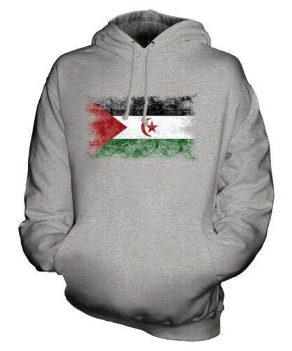 West Sahara Distressed Flagge Unisex Kapuzenpulli Top Geschenk Kleidung Trikot