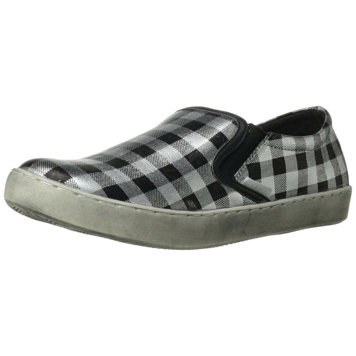 C Label Randy-7B Women's Silver/Black Slip On Loafer