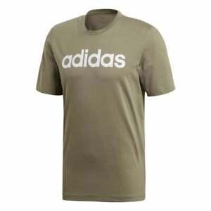 ADIDAS-Mens-Essentials-Linear-Logo-T-Shirt-Green