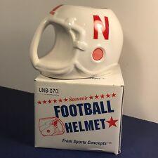 NEBRASKA CORNHUSKER COFFEE MUG CUP NIB BOX HUSKERS NCAA COLLEGE HELMET FOOTBALL