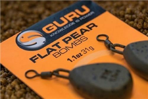2 Per Pack Guru Flat Pear Bombs New All Weight Sizes Available