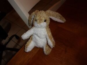 6 douglas cute lovey soft plush spotted tan pink white bunny rabbit