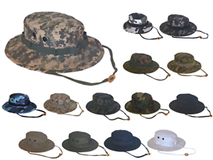 11689cd96df50 Army Navy Shop UV Protective Solid or Camouflage Boonie Hat Military ...