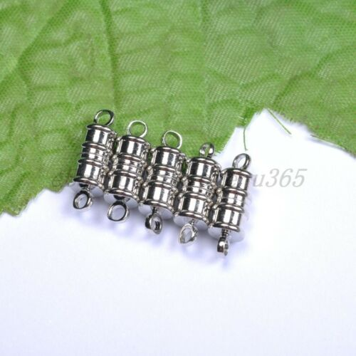 10Sets Silver //Golden Plated Stripe Oval Powerful Magnetic Clasps Hooks 10X6MM